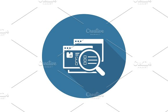 Website Optimization Icon Flat Design