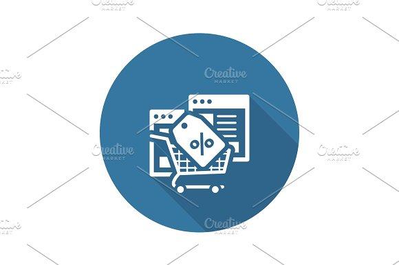 Discount Icon Flat Design