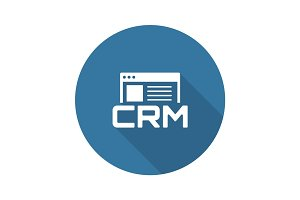 Shop CRM System Icon. Flat Design.