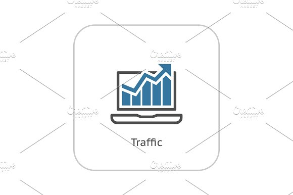 Traffic Icon Flat Design