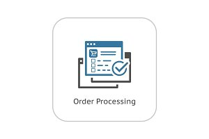 Order Processing Icon. Flat Design.