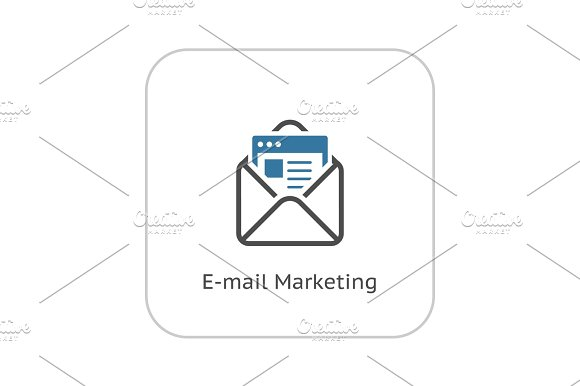 Email Marketing Icon Flat Design