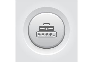 Personal Access Icon. Grey Button Design.
