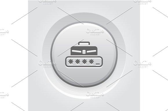 Personal Access Icon Grey Button Design