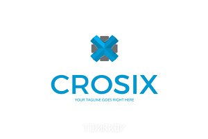 Crosix Abstract Cross X Logo