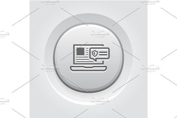 Security Alert Icon Grey Button Design
