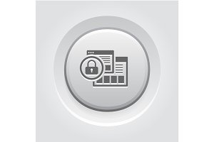 Security Level Icon. Grey Button Design.