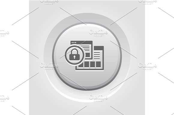 Security Level Icon Grey Button Design
