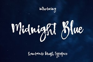 Midnigh Blue Brush Font