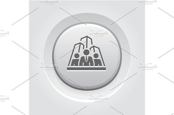 Security Agency Icon Grey Button Design