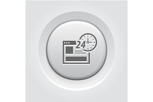 Online Shopping Icon. Grey Button Design
