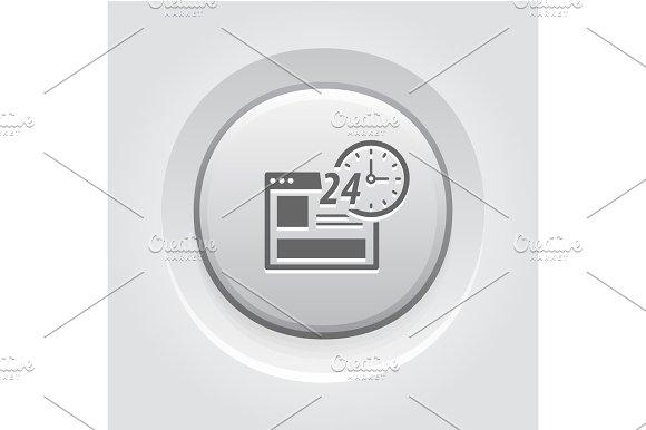 Online Shopping Icon Grey Button Design