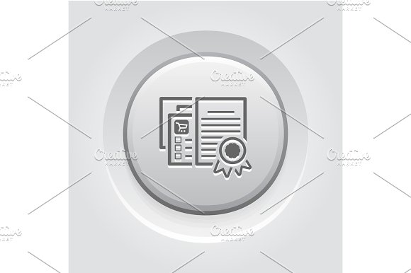 Certified Shop Icon Grey Button Design