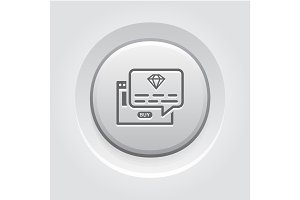 One Time Offer Icon. Grey Button Design.