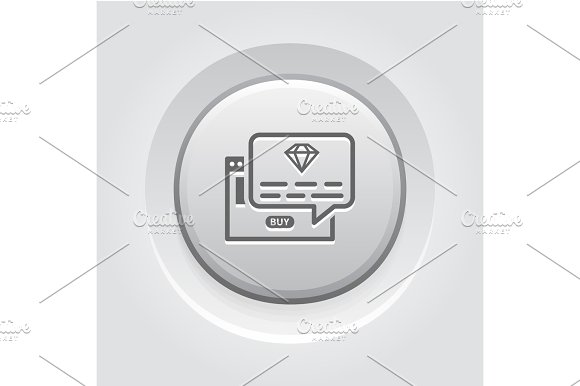 One Time Offer Icon Grey Button Design