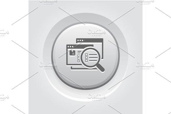 Website Optimization Icon Grey Button Design