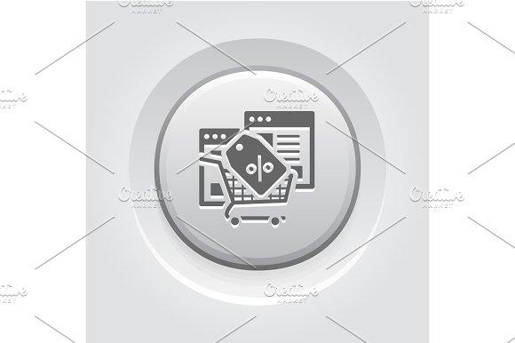Discount Icon Grey Button Design
