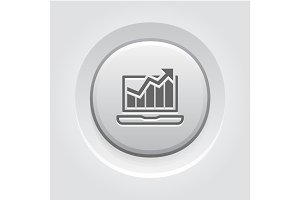Traffic Icon. Grey Button Design.
