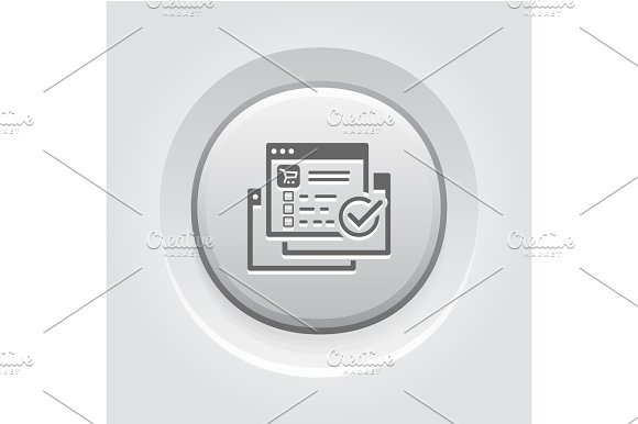 Order Processing Icon Grey Button Design