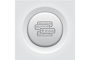 Internet Marketing Icon. Grey Button Design.