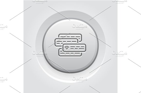 Internet Marketing Icon Grey Button Design