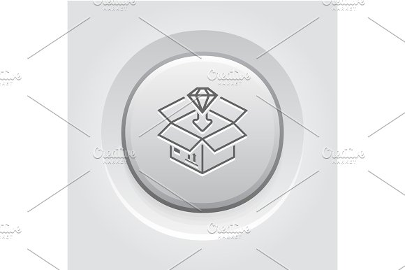 Packing Icon Grey Button Design