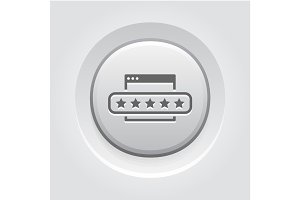 Customer Feedback Icon. Grey Button Design