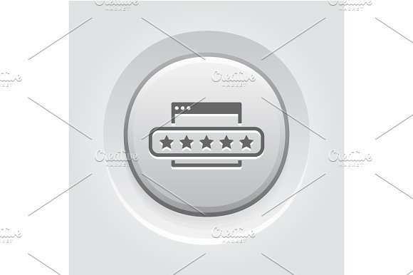 Customer Feedback Icon Grey Button Design