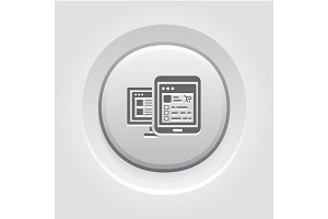 Shop APP Icon. Grey Button Design.