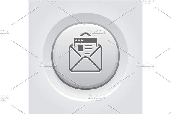 Email Marketing Icon Grey Button Design