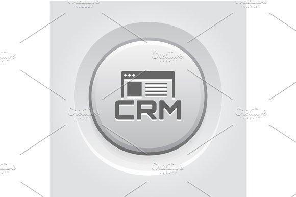 Shop CRM System Icon Grey Button Design