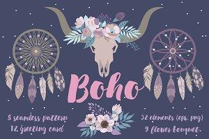 Boho elements set