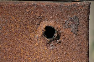 Old rusted iron metal - background for design