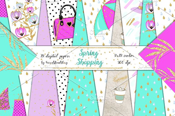 Spring Shopping Papers 12x12