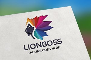 Lion Boss Logo