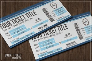 Multipurpose simple event tickets