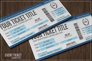 Multipurpose simple event tickets