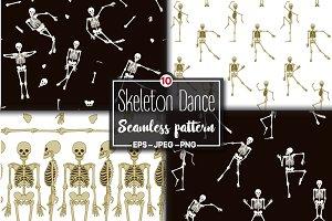 Dancing Skeletons Pattern