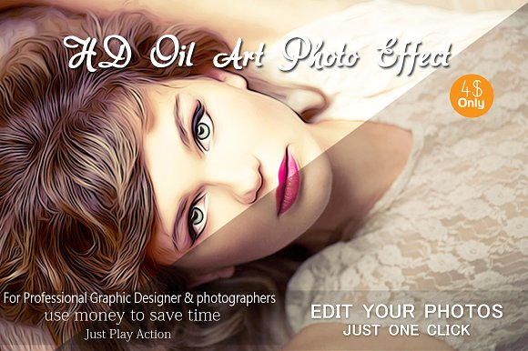HD Oil Art Photo Effect