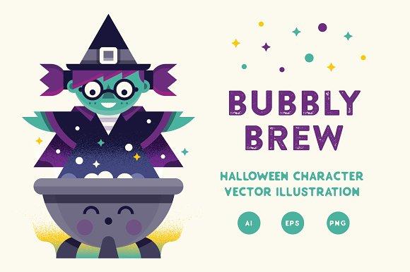 Bubbly Brew Vector Illustration