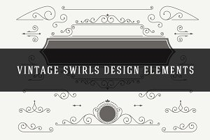 Vintage Vector Swirls Ornaments