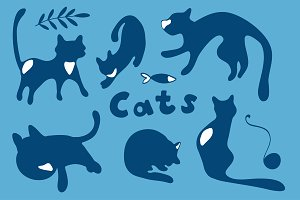 Cats graphics and patterns