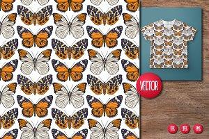 Cats, Butterflies, Birds Patterns