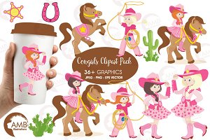 Cowgirls Clipart AMB-159