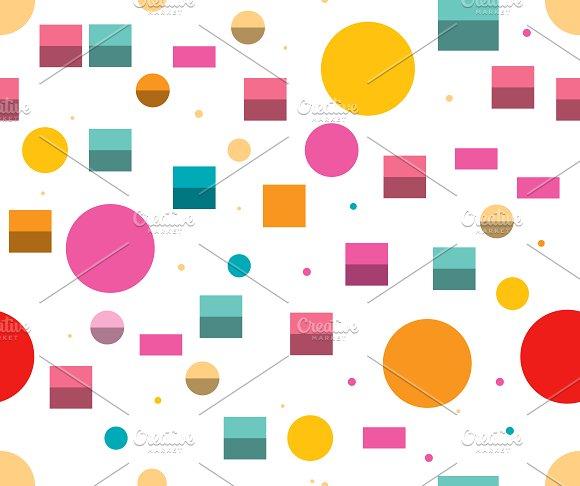 Minimalistic Geometric Repeat Color