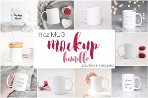 11oz Ceramic Mug Mockups Bundle II