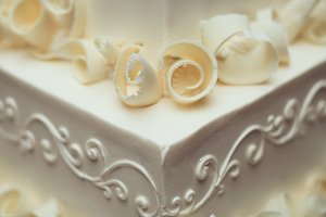 Ivory Wedding Cake Close Up