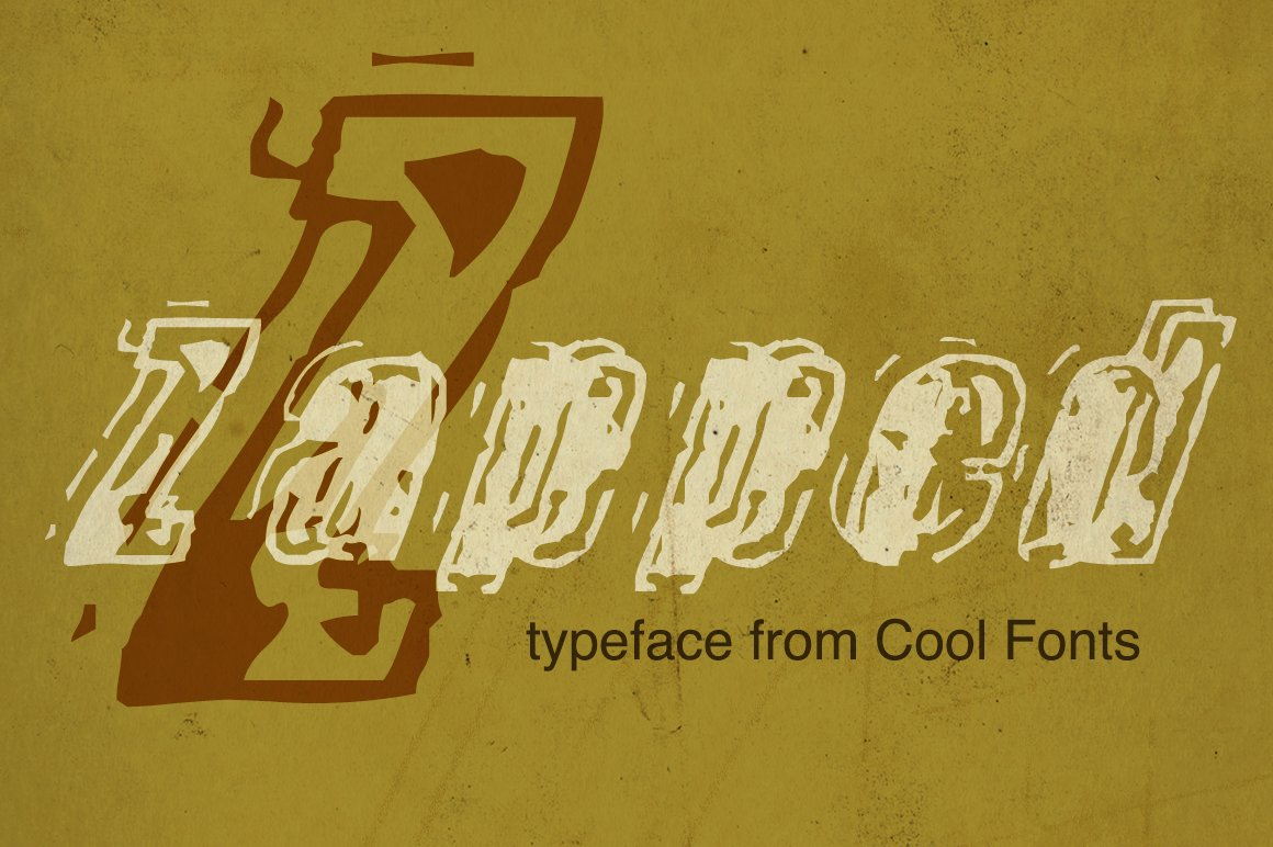 Zapped ~ Display Fonts ~ Creative Market