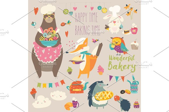 Animals Baking The Sweets
