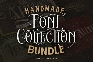 Handmade Font Collection Bundle
